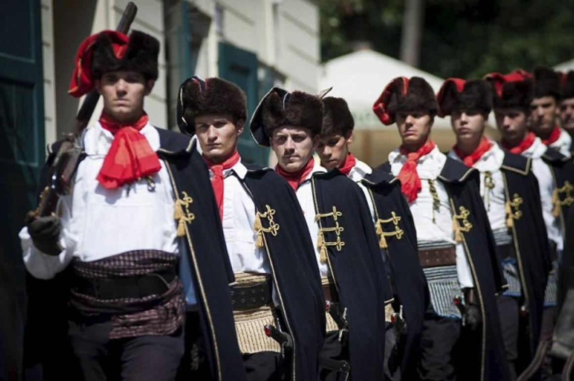 Modern Croatian Military still honor the cravat | Photo Source: buffalojackson.com