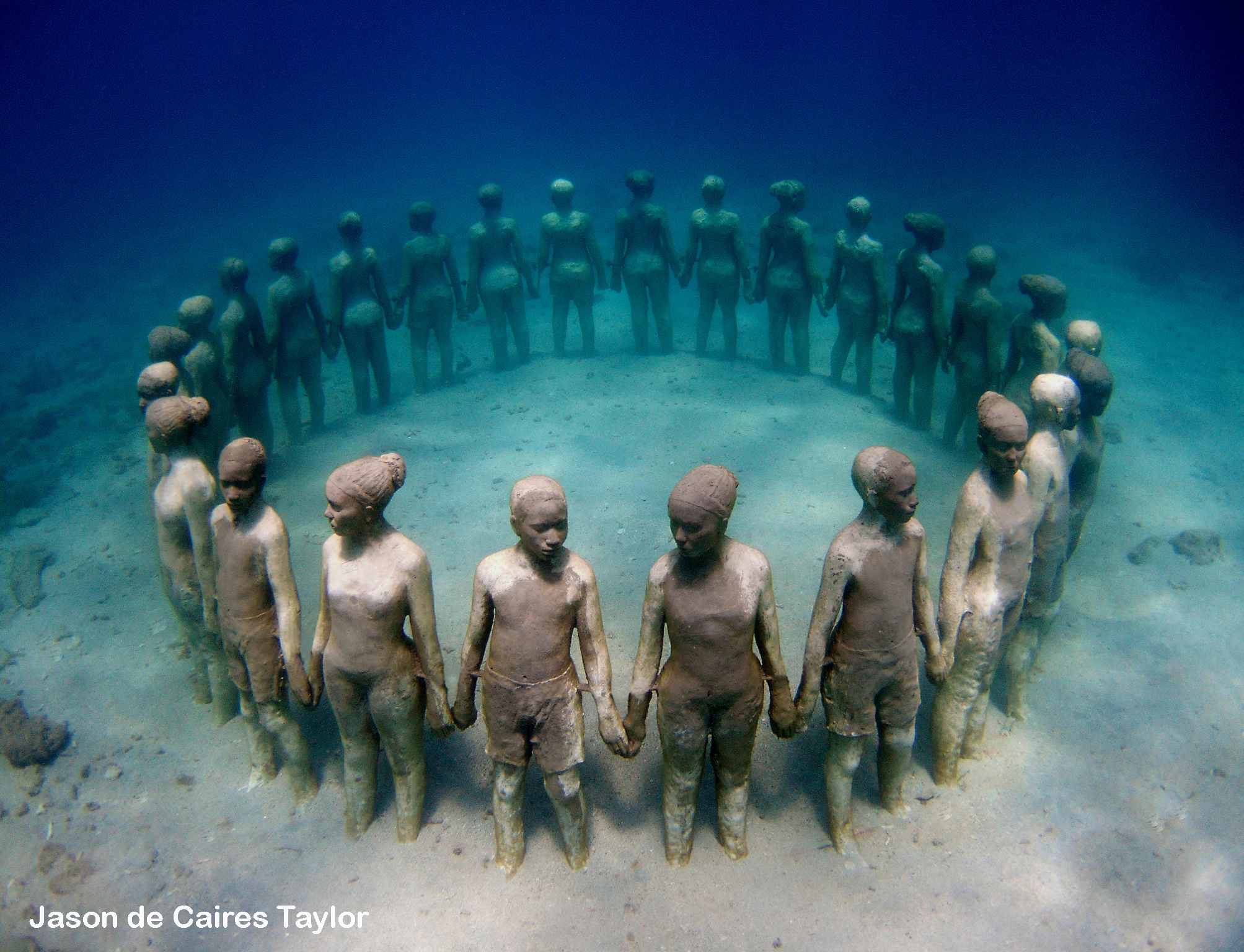 Photo © Jason deCaires Taylor | Underwater Sculpture Park in Grenada
