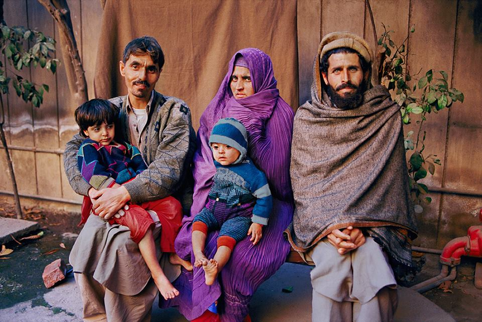 Sharbat Gula and her Family by Steve McCurry (2002)