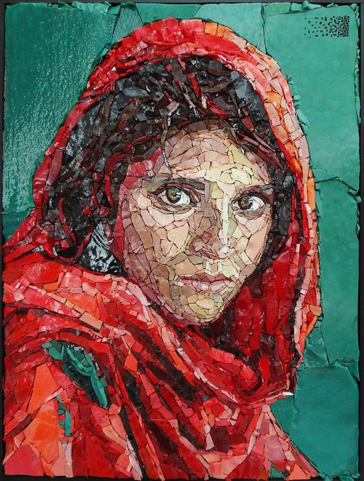 Mosaic of Sharbat Gula by Anouk Rosenhart