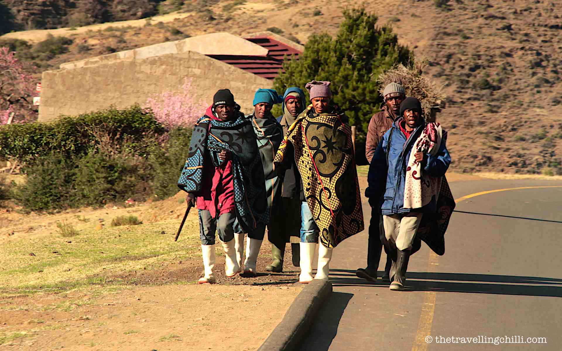 Photo © thetravellingchilli.com | Basotho, the blanket people of Lesotho