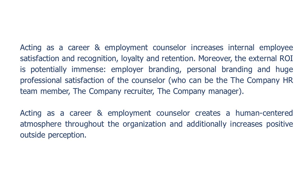 Developing Internal Career Counseling Competencies